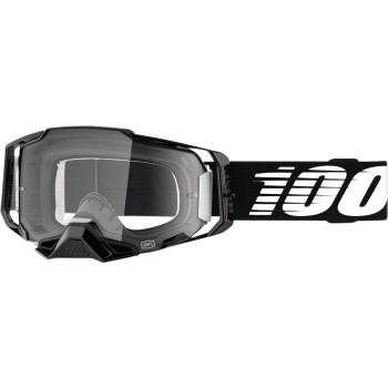 100% Armega Crossbril Black-Clear lens