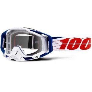 100% Crossbril Racecraft Bilal White/Clear
