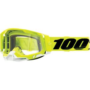 100% Crossbril Racecraft 2 Yellow Clear