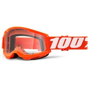 100% Crossbril Strata 2 Orange/Clear