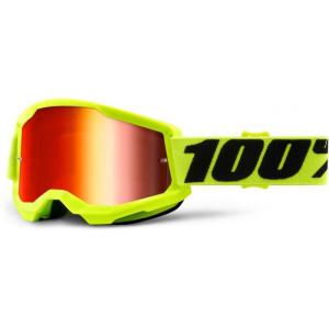 100% Crossbril Strata 2 Yellow/Mirror Red