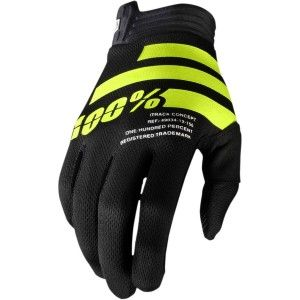 100% Itrack Crosshandschoenen Black/Fluor Yellow