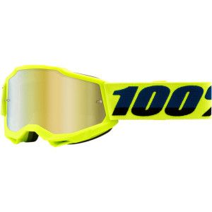 100% Kinder Crossbril Accuri 2 Youth Fluo Yellow Mirror Gold