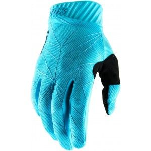 100% Ridefit Crosshandschoenen Ice Blue/Black