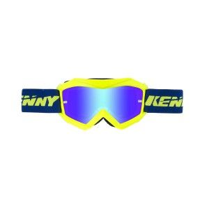 Kenny Kinder Crossbril Track+ Neon Yellow/Blue/Iridium