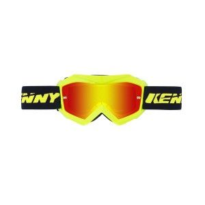 Kenny Kinder Crossbril Track+ Neon Yellow/Iridium
