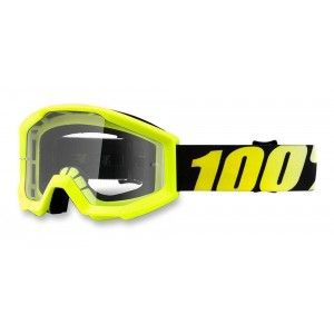 100% Kinder Crossbril Strata Youth Neon Yellow/Clear