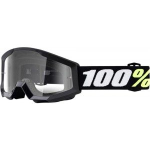 100% Kinder Crossbril Strata Mini Grom Black/Clear (tot 6 jaar)