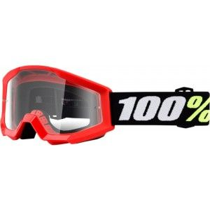 100% Kinder Crossbril Strata Mini Grom Red/Clear (tot 6 jaar)