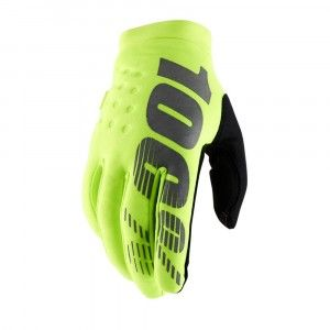 100% Handschoenen Brisker Fluo Yellow/Black