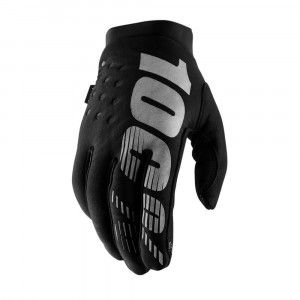 100% Handschoenen Brisker Black/Grey
