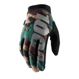 100% Handschoenen Brisker Camo/Black