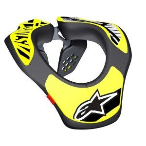 Alpinestars Kinder Neck Support Black/Fluor Yellow