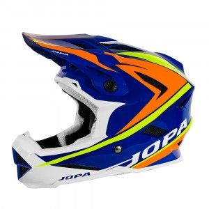Jopa BMX Helm Flash Blue/Orange/Fluor Yellow