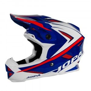 Jopa BMX Helm Flash Blue/White/Red