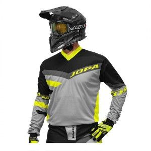 Jopa Crossshirt Devision Grey/Neon Yellow