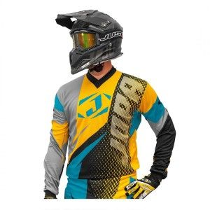 Jopa Crossshirt Elusion Aqua/Dark Yellow