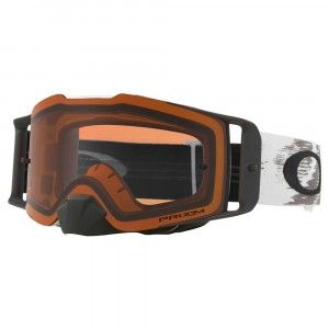 Oakley Crossbril Front Line MX Matte White Speed/PRIZM™ Bronze