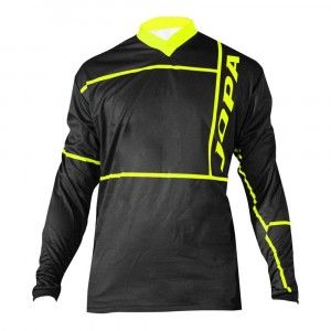 Jopa Kinder Crossshirt Q-Bix Black/Neon Yellow-140