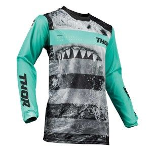 Thor Kinder Crossshirt Pulse Savage Jaws Mint/Black