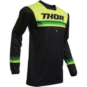Thor Kinder Shirt Pulse Air Pinner Black/Green