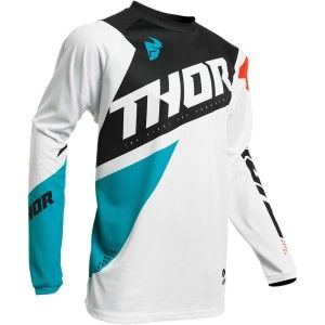 Thor Kinder Shirt Sector Blade White/Aqua